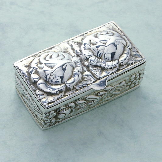 Rose Silver Pillbox, Collectors Silver Pillbox, Special Pillbox