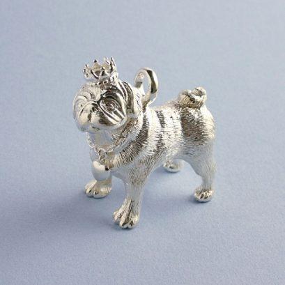 Sterling Silver Pug Figure
