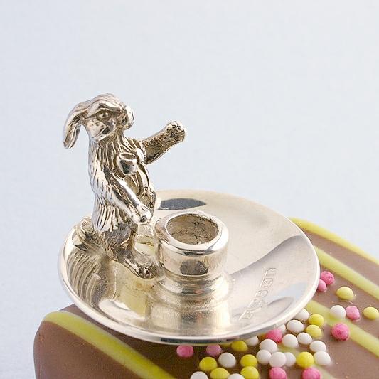 Rabbit Birthday Candle Holder, Rabbit Cake Candle Holder