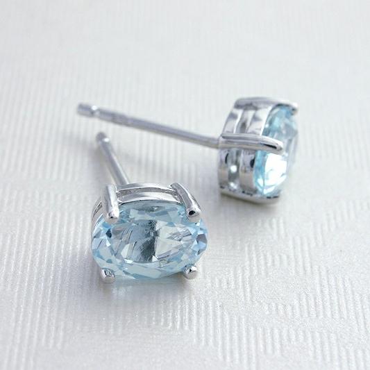 Topaz Silver Stud Earrings