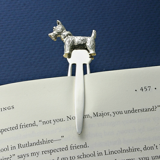 Westie Silver Bookmarker, Silver Page Marker, Collectors Bookmarker