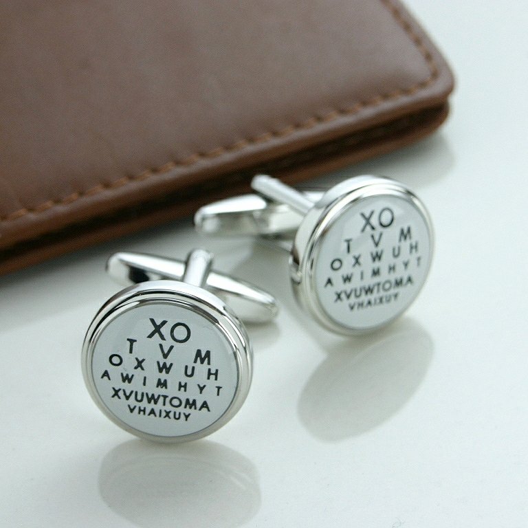Eye Test Cufflinks, PRESENT IDEAS FOR DADS For Dads