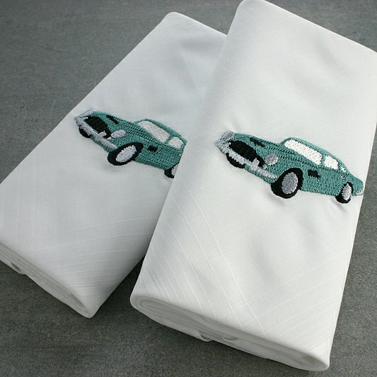 Handkerchief Set Vintage Car Motif, Gift Ideas For Grandfathers