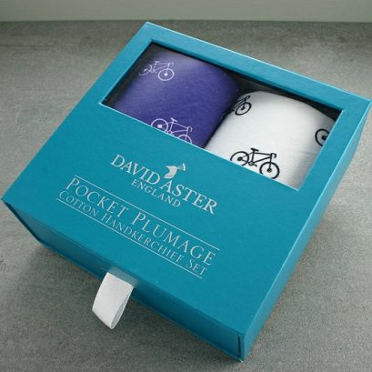 Pocket Handkerchief Set Bicycle Motif