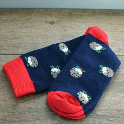 Socks In A Box Christma Pudding. Mens Christmas Socks, CHRISTMAS SOCKS IN A BOX