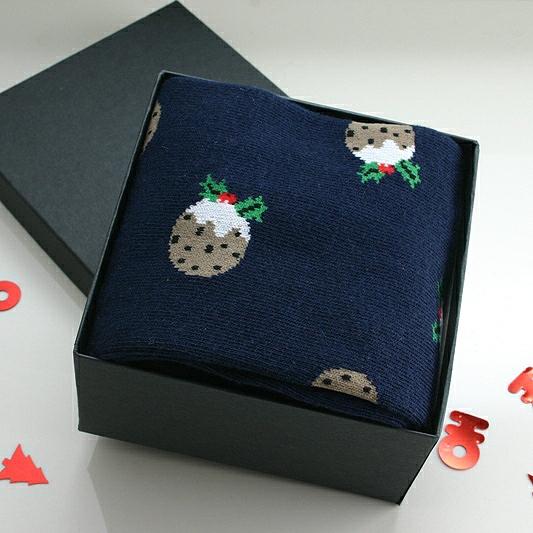 Socks In A Box Christmas Pudding, CHRISTMAS SOCKS IN A BOX