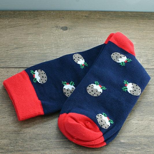 Socks In A Box Christma Pudding. Mens Christmas Socks, CHRISTMAS SOCKS IN A BOX