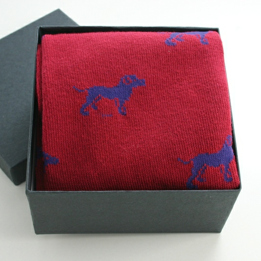 Socks In A Box Dog Motif, MENS SOCKS GIFT BOX