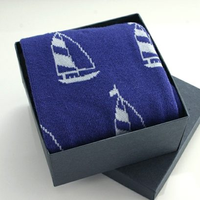 YACHT MOTIF SOCKS IN A BOX