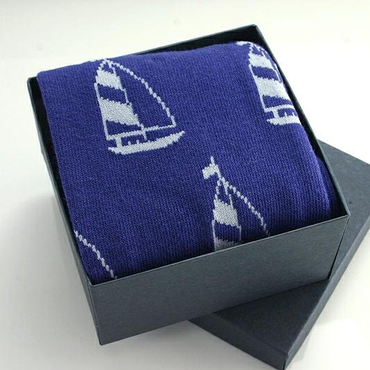Yacht Motif Socks In A Box, Yachts Mans Gift