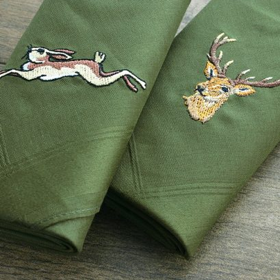 STAG & HARE HANDKERCHIEF SET