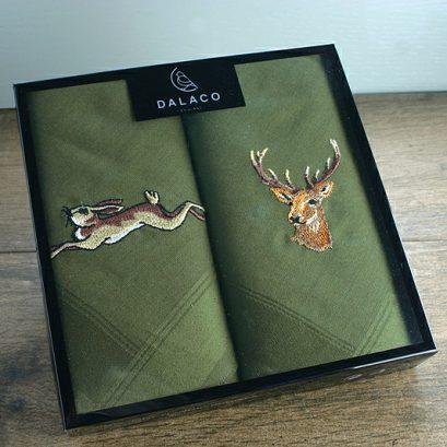 Stag & Hare Handkerchief Set