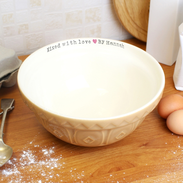 PERSONALISED MIXED WITH LOVE MIXING BOWL