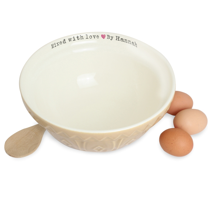 Personalised Mixing Bowl Mixed With Love