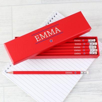 Personalised Pencil Box & Pencils