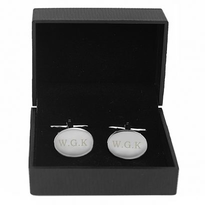 Personalised Oval Cufflinks