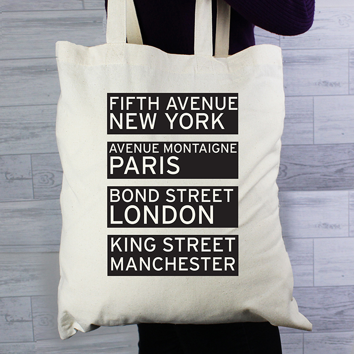 Personalised Destinations Shopping Bag
