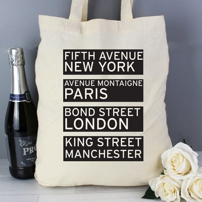Personalsied Destinations Shopping Bag