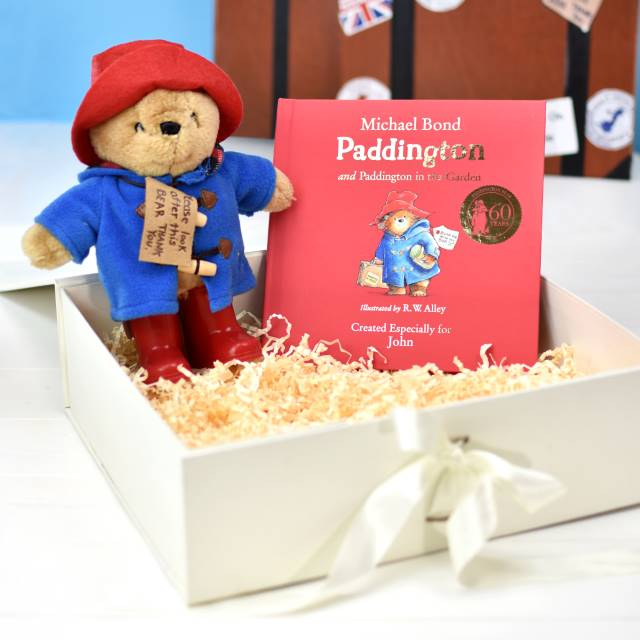 Personalised Paddington Story Book And Plush Toy Giftset