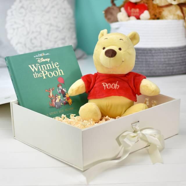 Disney Winnie The Pooh Book & Plush Toy Gift Set