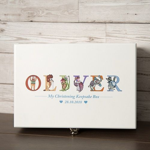 Child's KEEPSAKE BOX, Christening Gift, New Baby Keepsake Box