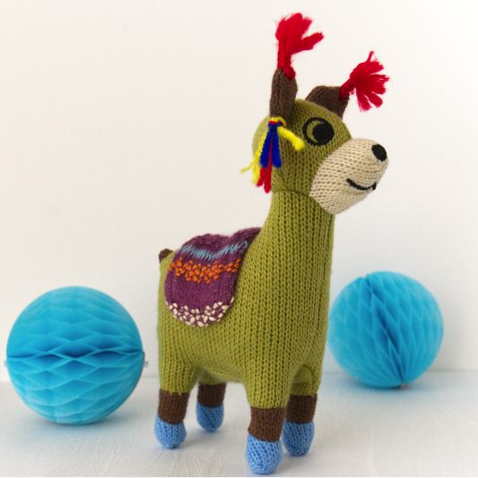 Mini Knited Llama Rattle Toy, Special Gift For New Baby