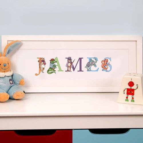 Child's Name Frame, Bedroom Or Playroom Wall Decoration, 1st Birthday Gift