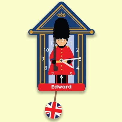 PERSONALISED SOLDIER KIDS WALL CLOCK