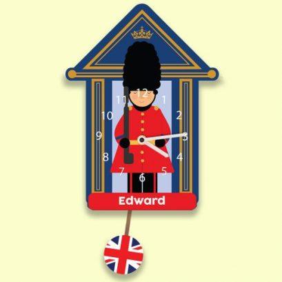 PERSONALISED SOLDIER KIDS WALL CLOCK