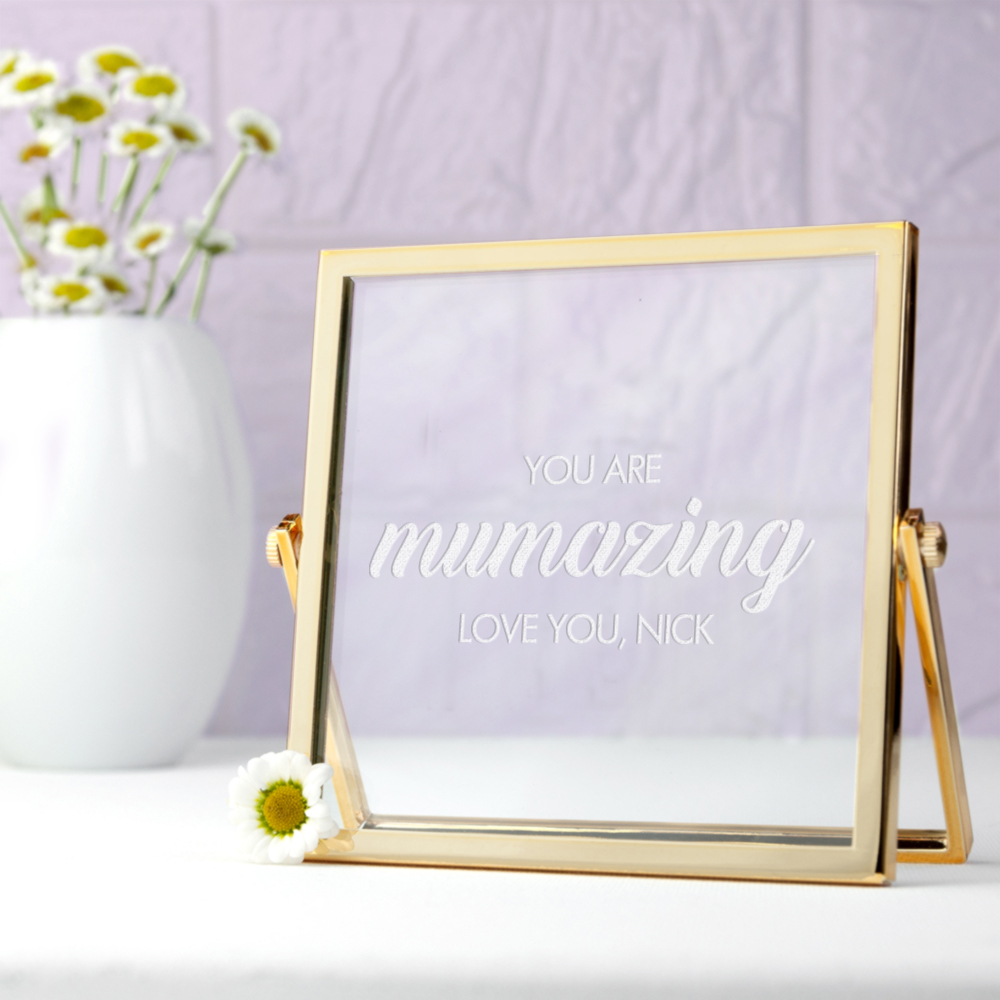 Engraved Mumazing Gold Frame, Mothers Day Gift
