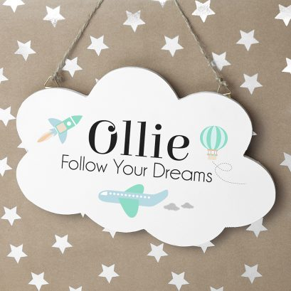 FOLLOW YOUR DREAMS CLOUD WALL HANGING