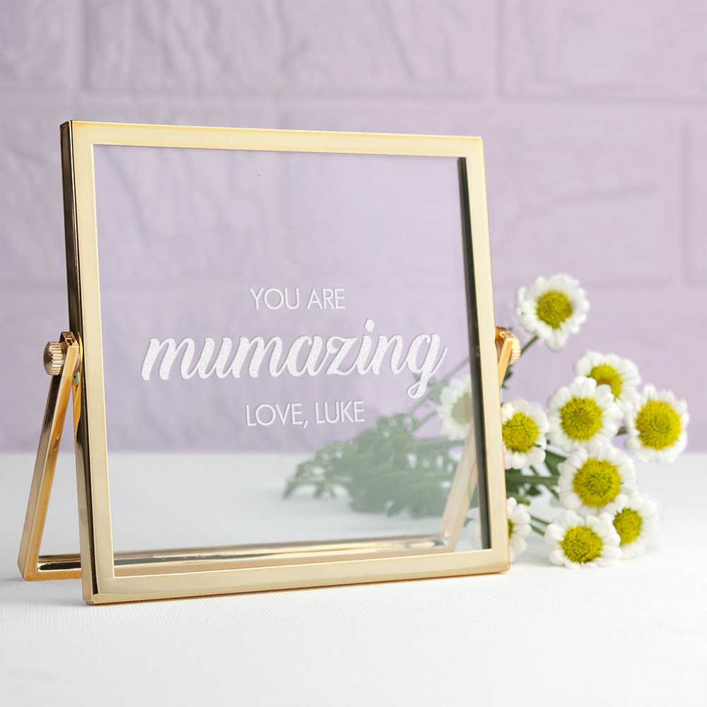 Engraved Mumazing Gold Frame, Mother's Day Gift