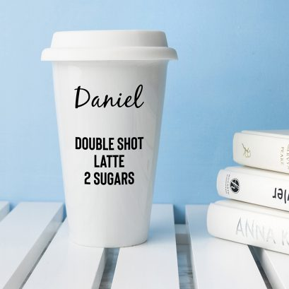 PERSONALISED CERAMIC TRAVEL MUG