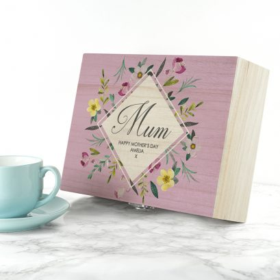 PERSONALISED FLORAL MOTHER'S TEA BOX