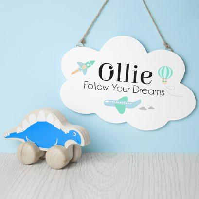 Follow Your Dreams Door Sign