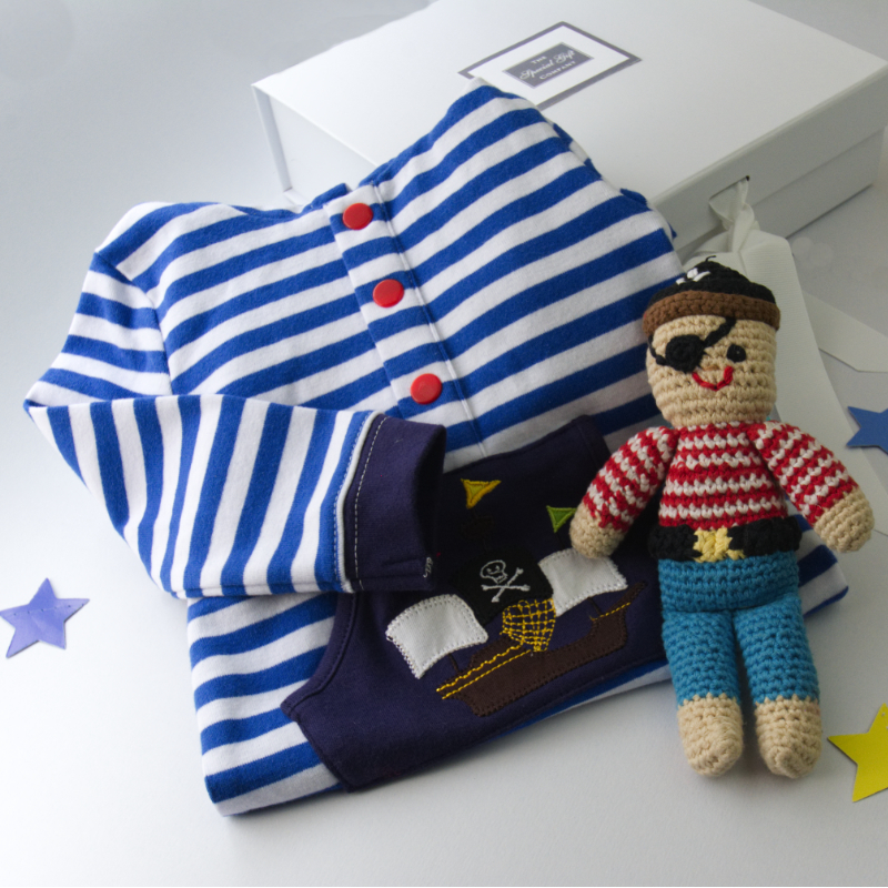 Pirate New Baby Gift Box. Special Gift For New Baby