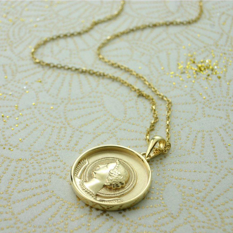 ANGEL PENDANT GOLD PLATED