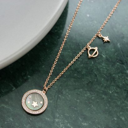 STARS AND PLANET ROSE GOLD NECKLACE
