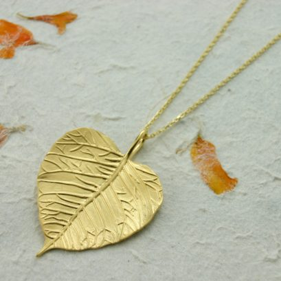 Vermeil Leaf Pendant