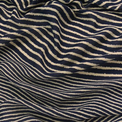 NAVY STRIPED SCARF CLOSEUP