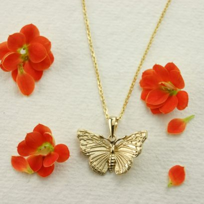 SMALL RED ADMIRAL BUTTERFLY PENDANT