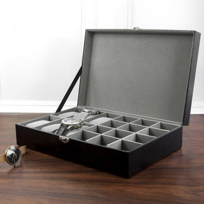 Personalised Watch And Cufflink Box