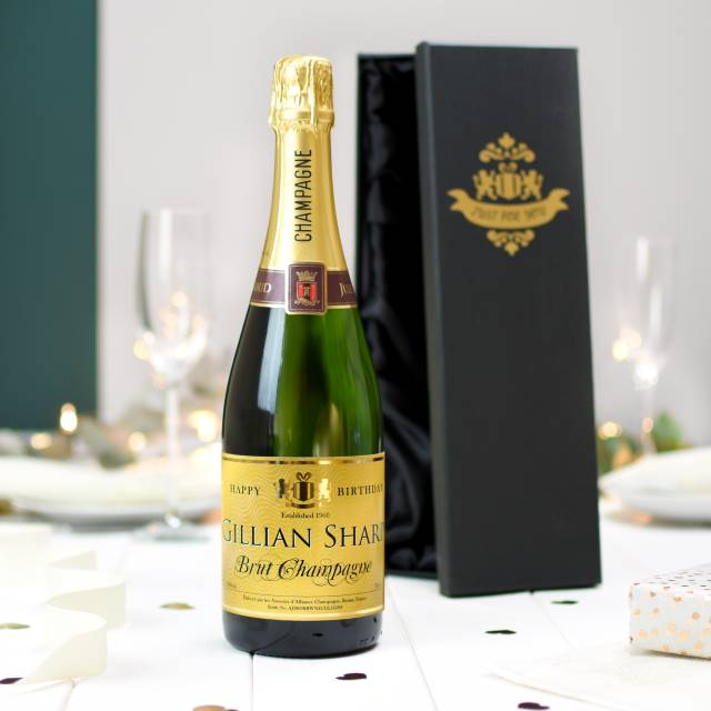 PERSONALISED BIRTHDAY CLASSIC CHAMPAGNE