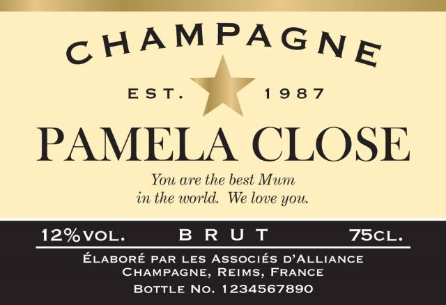 Champagne Label Authentic Star(1)