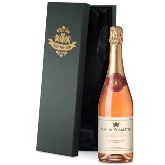 PERSONALISED CELEBRATE SPARKLING ROSE WINE