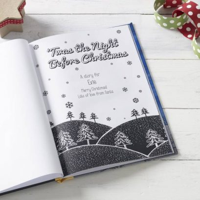 Personal Printed Message In Tas The Night Before Christmas Childrens Storey Book