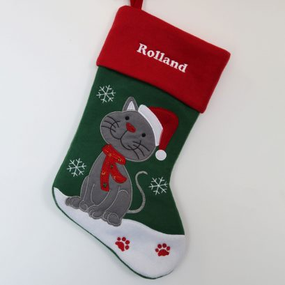 PET CHRISTMAS STOCKING FOR A CAT