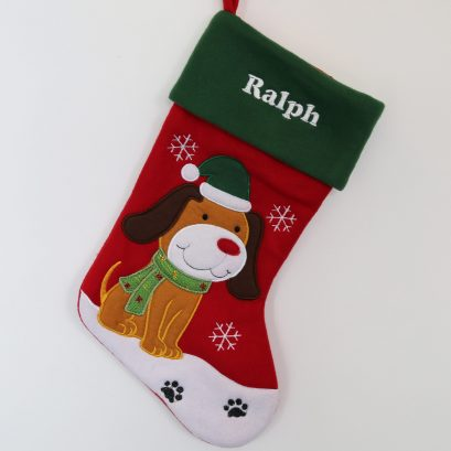 PET CHRISTMAS STOCKING FOR A DOG