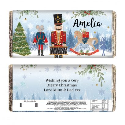 Personalised Nutcracker Chocolate Bar