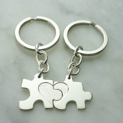 YOU & I JIGSAW KEYRING